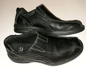 Clarks Collection Black Leather Loafer Mens 10.5 Casual Dress Shoe