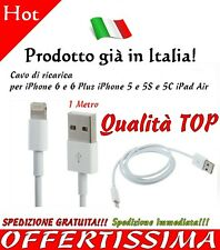 Cavo Dati Apple Usb Per iPhone 5 5s 6 plus iPad Air Cavetto 1 Metro