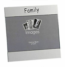 "Personalised 6"" x 4"" Family Photo Frame, Engraved With Any Message Free"