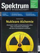 Spektrum der Wissenschaft, Heft Februar 02/2013: Nukleare Alchemie + Wie neu +