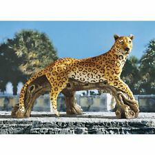 Lounging African Safari Wildlife Leopard Sculpture Garden Statue NEW