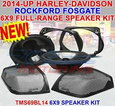 ROCKFORD FOSGATE 6x9 FOR HARLEY DAVIDSON REAR SPEAKER AUDIO KIT 2014+ TMS69BL14