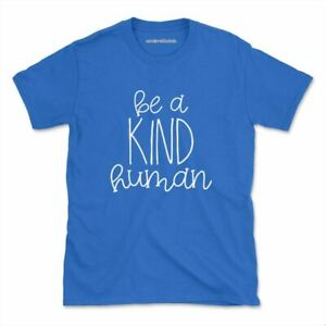 Be A Kind Human Tshirt Inspirational Love Hippie Womens Mens
