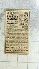 1927 Liberty Candy Company Chocolate Making At Home