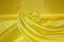 Futter Stoff Gelb Innenfutter Taft Meterware Hochzeit Vorhang Party 150 cm breit