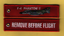F-4 Phantom II Remove Before Flight Embroidered Aviation keyring/fob/tag - New