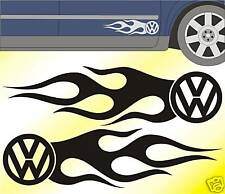 VW Flames Sides Stickers Beetle Polo Passat Lupo