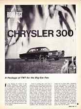 1966 CHRYSLER 300 <> 440/365-HP  ~  ORIGINAL 5-PAGE ROAD TEST / ARTICLE / AD