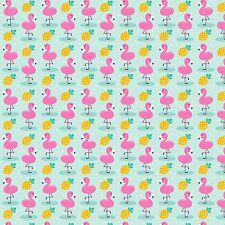 Printed Bow Fabric A4 Canvas Pineapples and Flamingos PF2 Make glitter bows