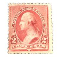 US Stamp, Scott #220, 2c 1890, OG H