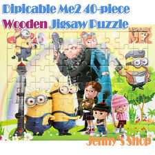 Hot New Disney Wooden 40 Pieces Despicable Me2 Jigsaw Puzzle Best Gifts for Kids