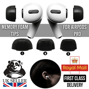 2pcs Memory Foam Ear Tips For Apple AirPods Pro Replacement Earbuds Earphone UK
