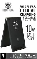 Decibel Electronics Wireless Cell Phone Charger 10W Fast Charge Stand Qi