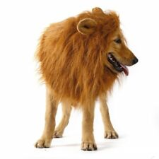 Furry Pet Hat Costume Lion Mane Wig for Dog Halloween Dress With Ears Party