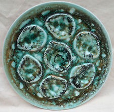 Vintage Sea Foam Oyster Plate Hand Painted French Faience Niderviller 1960