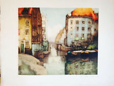"""""""Amsterdam"""" Ed. 3/8 color etching"""