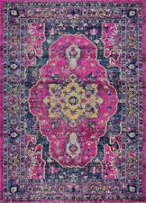 Beverly Pink Purple Traditional Outdoor Polypropylene Flat Pile Area Rug TMS1315