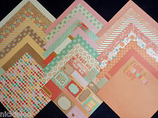 12X12 Scrapbook Paper Cardstock Sweet Soiree Party Glitter Peachy Bowtie 24 Lot