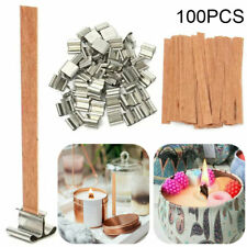 100Pcs/set Diy Wooden Candle Wicks Core Sustainer for Candle Making Supplies Us