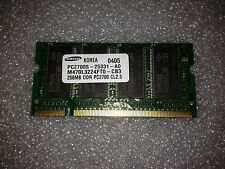 Memoria SoDimm DDR Samsung M470L3224FT0-CB3 256MB PC2700 333MHz CL2.5 200 Pin