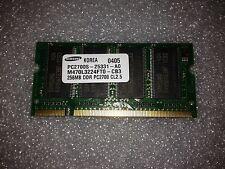 Memoria SoDimm DDR Samsung M470L3224FT0-CB3 256MB PC2700 333MHz CL2.5 200 Pin