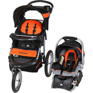 ORANGE Baby Trend Expedition Jogger Travel System Stroller Infant Car Seat NEW