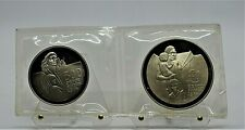 Cyprus 1976 £1 and 500 Mils -  Refugees / Theros Proof Silver Set