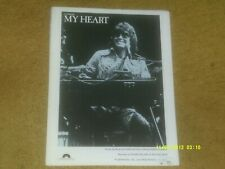 Ronnie Milsap sheet music My Heart 1980 3 pages (Vg+ shape)