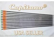 """34""""-12 Capitano® Fiberglass Target Practice Arrow Replaceable Screw-In Tips 86CM"""