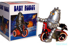 Windup Baby Robot Tin Toy Tricycle - Robby the Robot