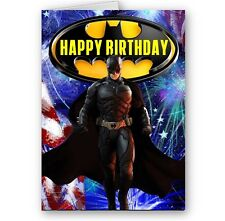 Batman A5 Happy Birthday Card with Envelope, Can Be Personalised With Name