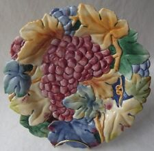 Fitz & Floyd Collectors Series Grapes Canape Plate 9""
