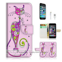 ( For iPhone 6 / 6S ) Wallet Case Cover! Cute Pink Cat P0311