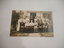 RPPC photo postcard Family at Valparaiso University Indiana 1911