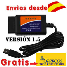 ELM327 CABLE USB DIAGNOSIS MULTIMARCA V1.5 OBDII OBD2 ELM 327 COCHE ESCANER