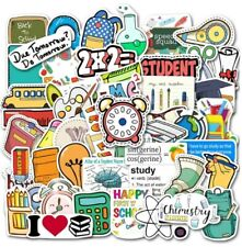 50Pcs Nerd School Skateboard Stickers Pack Vinyl Laptop Vibes Decals Lot💥NEW💥