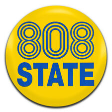 808 State Acid House Madchester Electronica 25mm / 1 Inch D Pin Button Badge