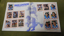 #T90. 1983  CANTERBURY BULLDOGS  RUGBY LEAGUE STICKERS ON ALBUM PAGES