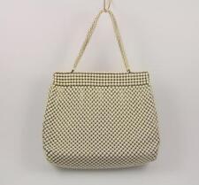 Vintage Whiting & Davis Alumesh Off White Beaded Purse Handbag with Change Purse