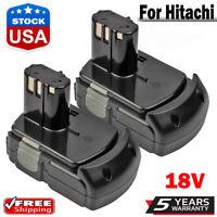 2x NEW For Hitachi 18V Battery Lithium-ion EBM1815 EBM1830 BCL1815 BCL1820 Tools