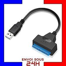 Adaptateur de disque dur USB 2.0 à 2.5 Câble Convertisseur SATA vers USB 22 pins