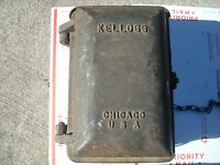 Antique telephone 1930 Kellogg Fire Bomb shelter Outdoor telephone police