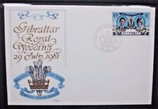 GIBRALTAR 1981 Royal Wedding.  First Day Cover. USED. SG450.