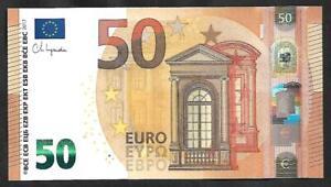 Greece 50 EURO Lagarde signature Printer Y004G5  UNC.