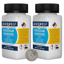 Potassium Hydroxide 8 Ounces 2 Bottles 99 Pure Food Grade Fine Flakes