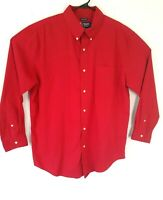 Chaps mens shirt red long sleeve button down size Large