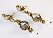 Drop Handcrafted Earrings, Crystal/Gold Rosena Sammi Women's Jeweled Elegant