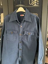 LEVIS VINTAGE CLOTHING RETRO LVC DARK BLUE SHIRT JACKET SIZE MEDIUM EXCELLENT