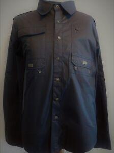 NWT, BLAC LABEL GUNMETAL, Black Graphic Cotton Sport Shirt/Jacket  Sz XL (1564)