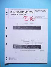 Manuel de reparation pour Kenwood kt-89/kt-2020, original